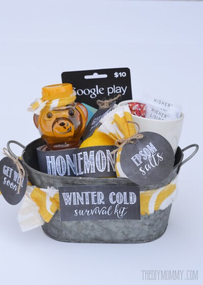 Snowy day gift basket