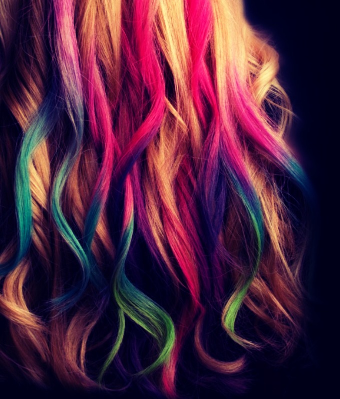I can show you how you can chalk you hair like this! 🙎🙊🙀