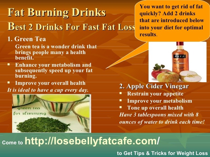 Fat Burning Drink Best 2 Drinks For Fast Fat Loss