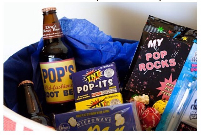 If your Pop(dad) rocks put a bunch of pop things in a basket