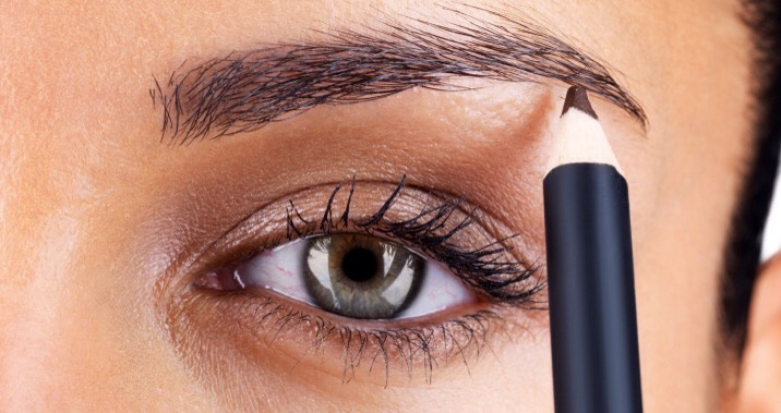 4 Shape and fill in your brows. |  Whether you prefer waxing, threading or tweezing, make sure your brows have a defined shape. This helps frame + open your eyes. If you have naturally sparse brows use a pencil to fill in any thin spots.