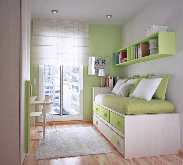 Good idea for a small box room 💚