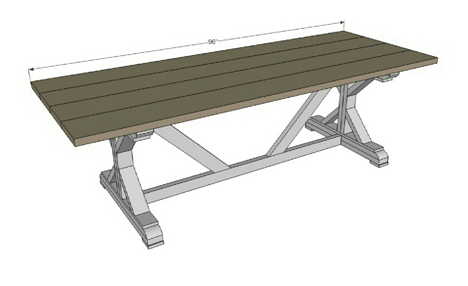 Step 9 Instructions:  And finally the top! If you are using the table outdoors, leave a little space between the boards for water drainage.