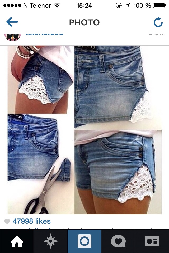 Have an old shorts? Do this and BOOM! You have a new shorts!!