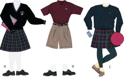 Uniforms can be very difficult to look cute in or fashionable when you are only wearing one color. So, I hope this helps you out with some ideas.