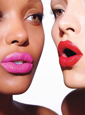 Avoid lipstick on the teeth:To make sure lipstick doesn't stick to your pearly whites, position your freshly painted lips around your fingers and softly pull your finger out. Doing this will remove all of the excess lip color onto your finger rather than on your teeth.