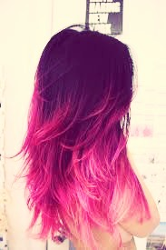 Now your hair is dip dyed!!!