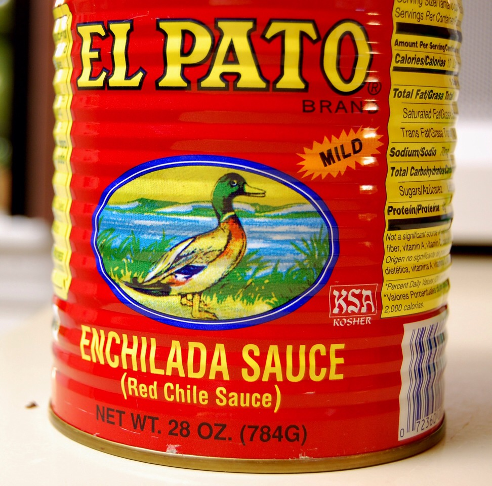 Add Salsa de Pato to the pot (pasta should not be in a pot while you mixed the next ingredients) you can find this at any super market i hope, spicy but too spicy add whole can