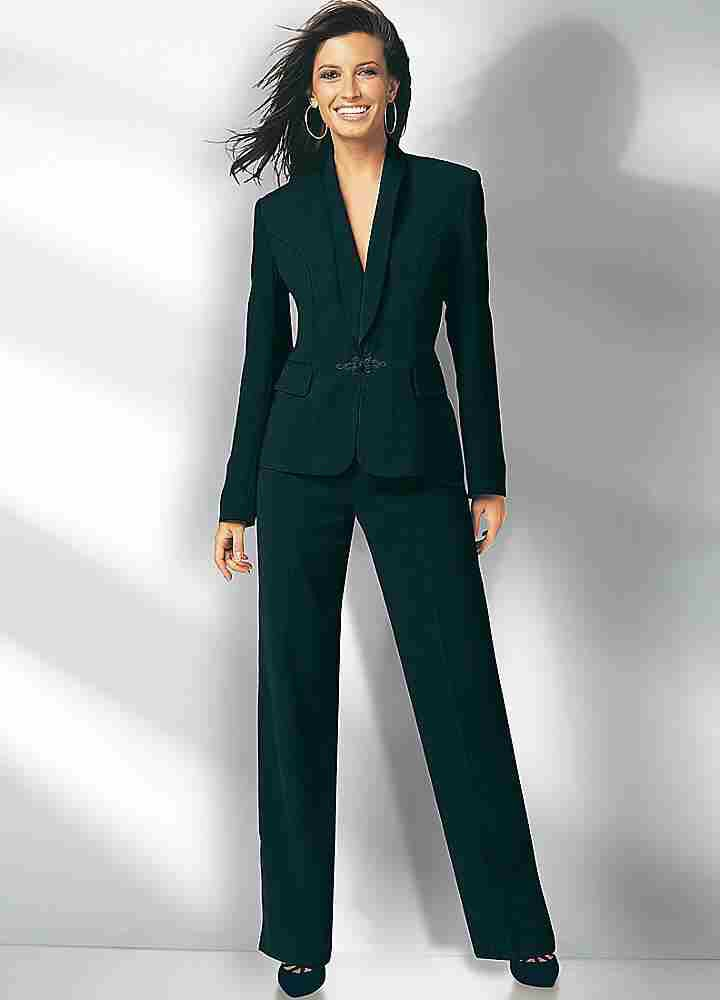 Trouser Suits:  The power suit takes on a whole new meaning this spring. Offset this mannish silhouette with feminine touches such as deep V necks, embellishments, cropped styles, and slim fits. We love the idea of mixing it up, but there's nothing more powerful than a monochromatic suit set.