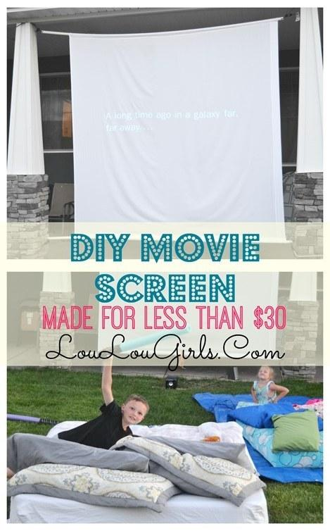 16. Show a movie outdoors on this DIY movie screen.