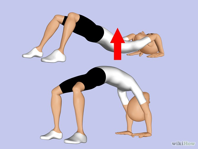This is the first way to do a back bend this one is for someone who has never done a backbend before