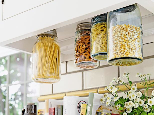 7. Kitchen Storage  HGTV / Via hgtv.com The perfect way to keep your dry goods organized and easily accessible.