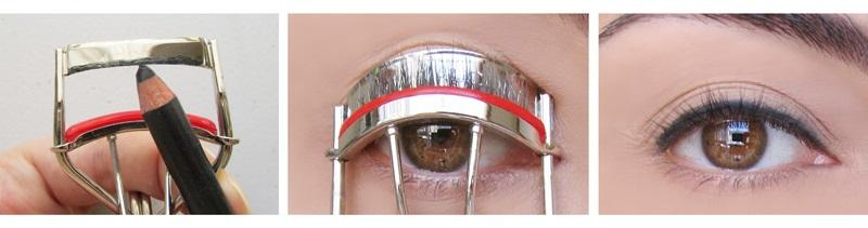 Use a tape when applying both eyeshadow and black liquid pencil. In this way you will have perfect lines every time.