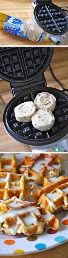 27. The Waffle Iron Also Works for Cinnabons