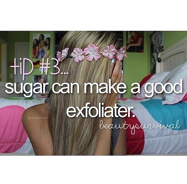 Sugar can make a great exfoliater!  🌺