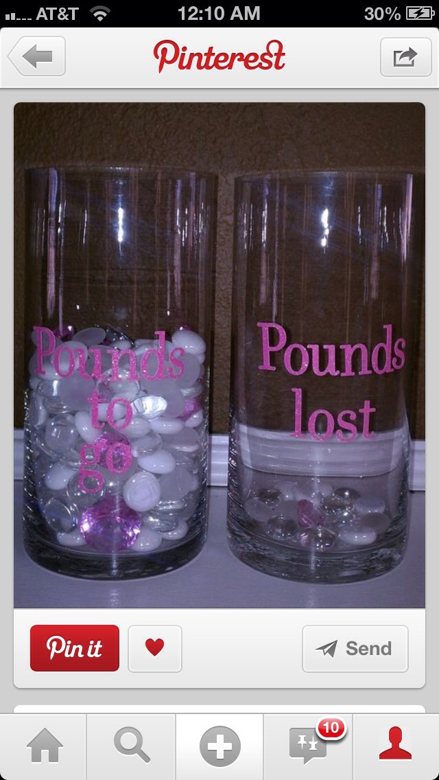 Easy and super cute way to keep track and help motivate you about you weight loss!