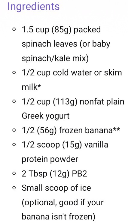 (You can use whatever peanut butter you have, pb2 is healthier then peanut butter)  (If you don't have protein powder use vanilla extract and more peanut butter)