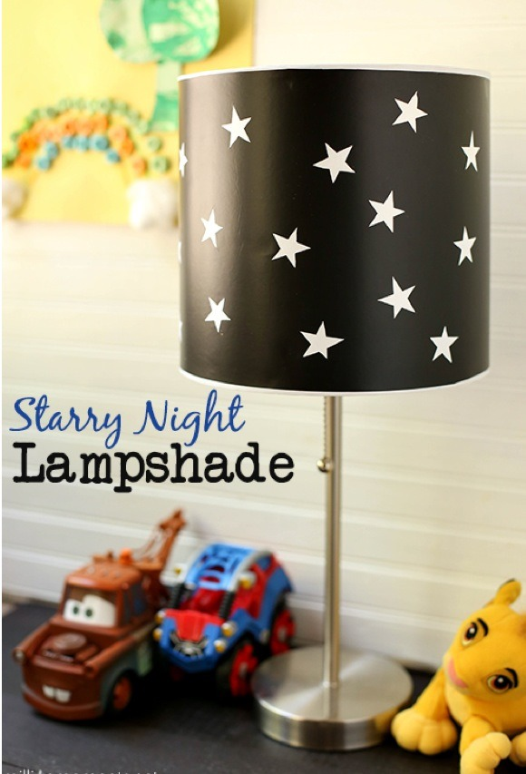 Diy Easy Affordable Starry Night Lampshade