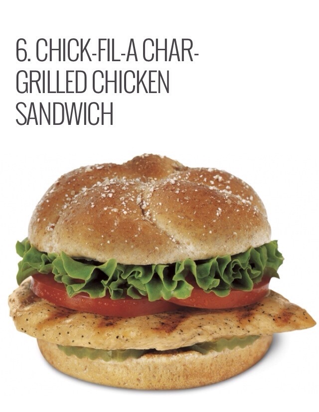 At only 350 calories and 4 grams of fat, this is definitely a great menu choice. You won't have to eat your sandwich plain either; the 350 calorie count includes lettuce, tomato, pickles, and a packet of BBQ sauce. Turn this menu choice into a complete meal by adding a side salad with 80 calories.