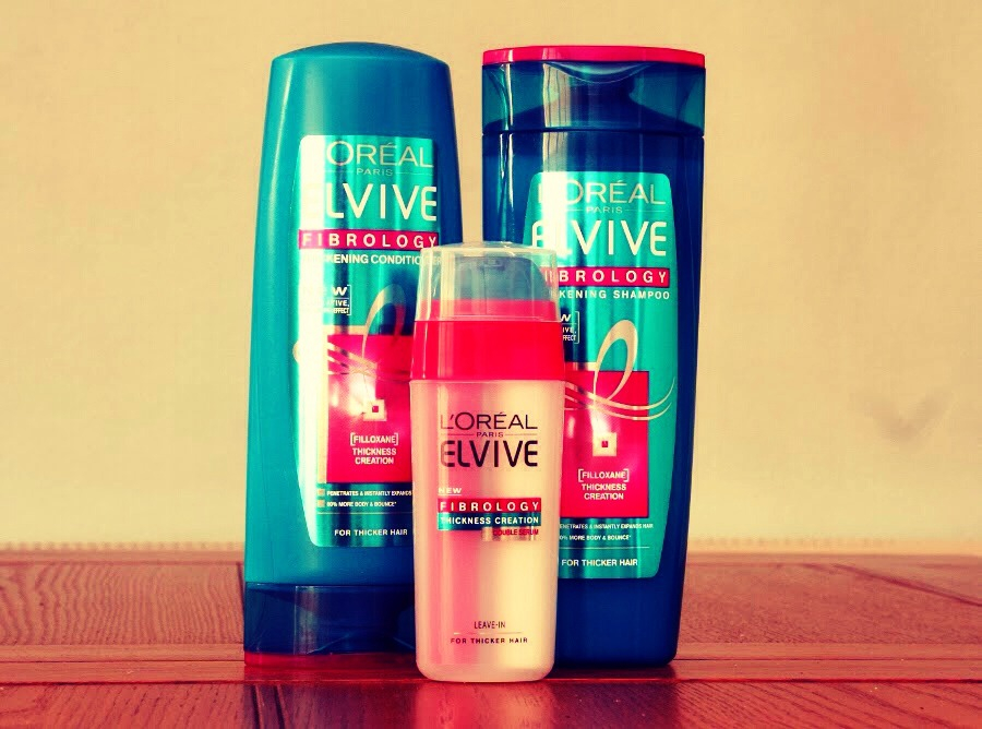 Then after half an hour, wash your hair as normal and leave to air dry. I use elvive fibrology thickening shampoo because my hair is quite thin.
