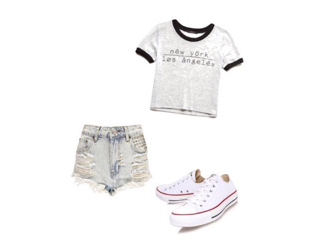 Shirt - forever21.com  Shorts- boohoo.com   Shoes- liberty.co.uk