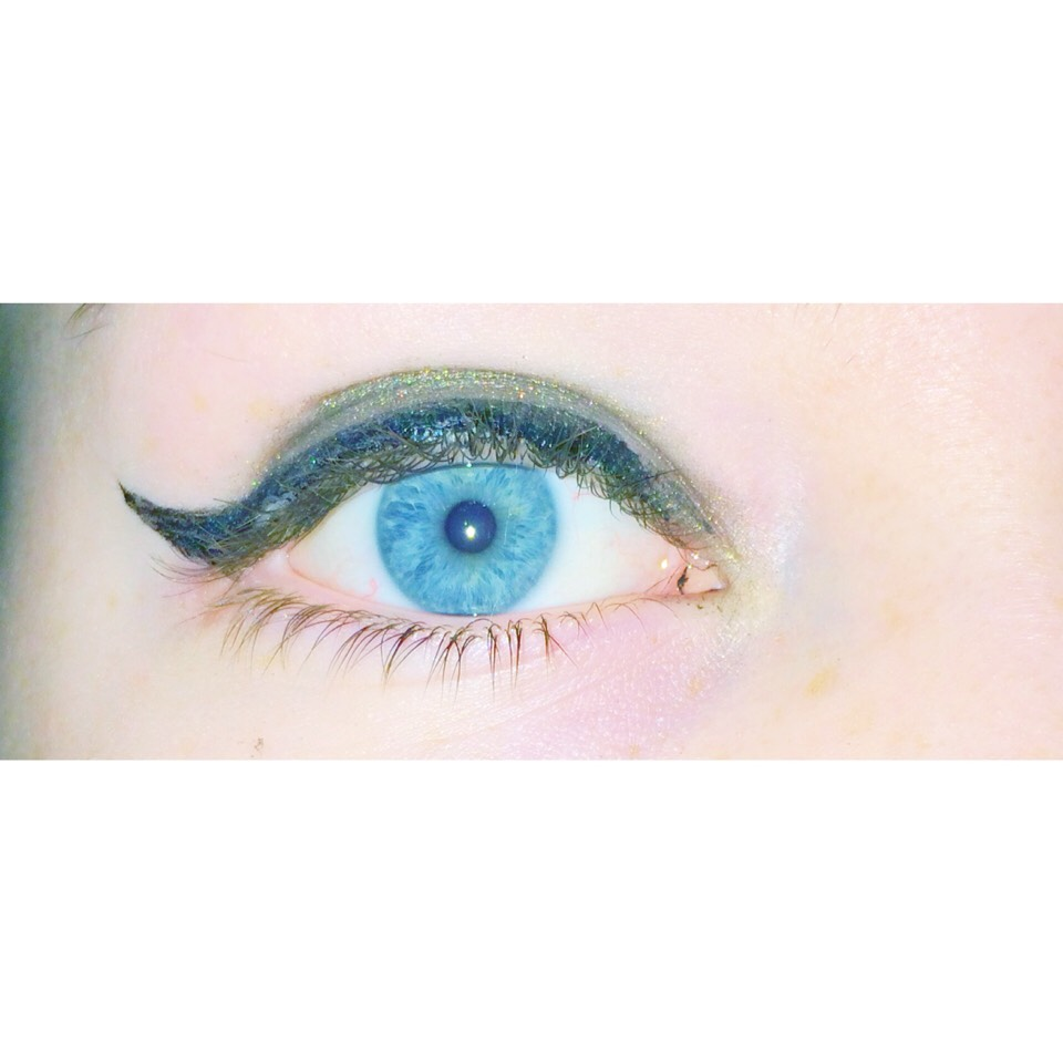 for blue eyes: dark black eyeliner makes your eyes POP and also browns, greens, blacks and beige/ gold makes your blue really stand out