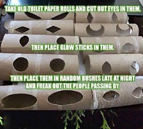 Haunted eyes! Outdoor decor idea!