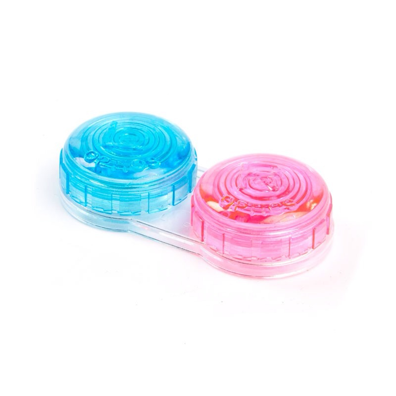 Finally pour your lipgloss into a container like a contact lens case and you're done! This way you can use up every little bit of your lipgloss!
