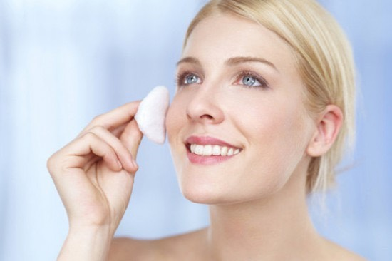 Apply a toner using a cotton pad to rebalance your pH levels, shrink pores, and refresh the skin.
