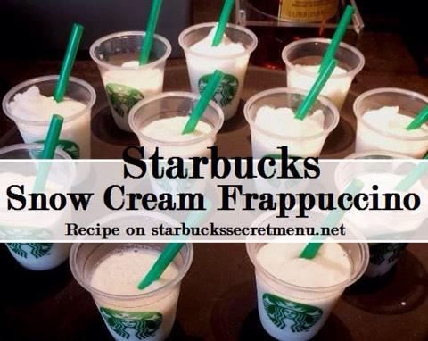 •Vanilla Bean Frappuccino •Made with Vanilla Syrup instead of Vanilla •Bean Powder Optional: Add a splash of lemonade for extra fun