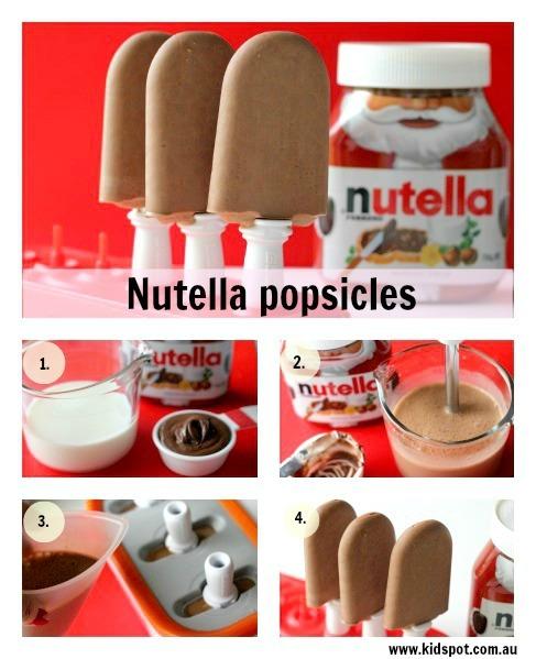 Nutella ice Popsicles!!