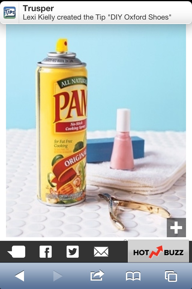 Grab some Pam and spray those beautiful freshly painted nails to prevent smudges and help set your nails!!