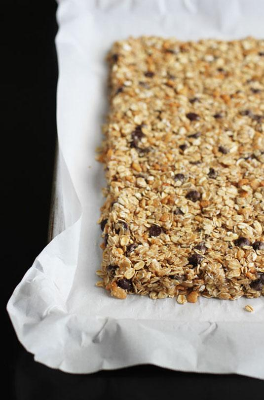 11. Use wet hands to easily work with sticky food like fudge and granola bars.