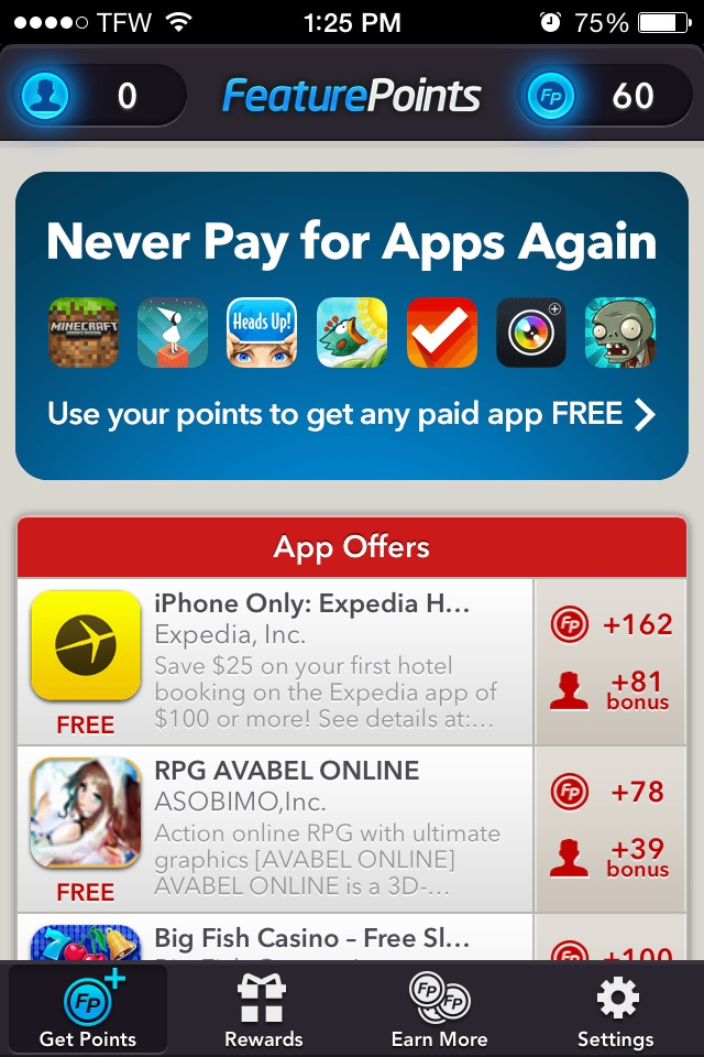 Play games and download apps, follow the directions & earn