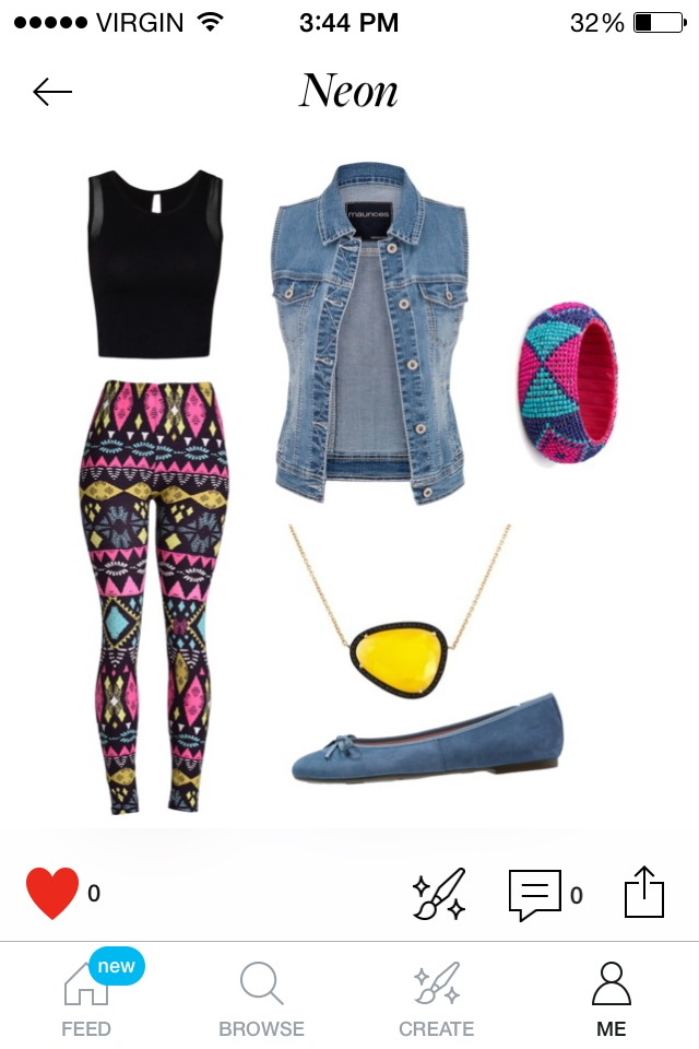 Rearrange you materials and patterns. A typical outfit would be a pair of jeans and some sort of shirt, right? So mix it up, put the jeans on top and the colour on the bottom. Incorporate weird materials on your jewellery  and that sort of thing.