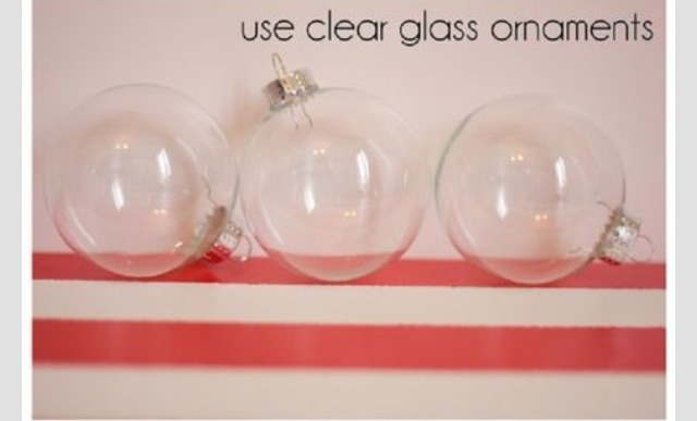 Use clear glass ornaments.