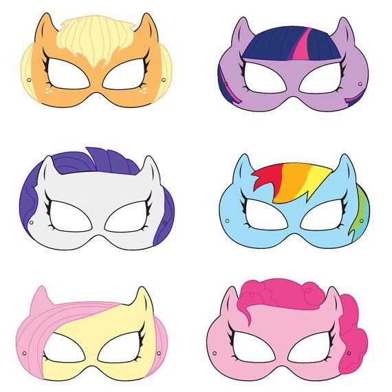 You can print these out in order to use as a mask