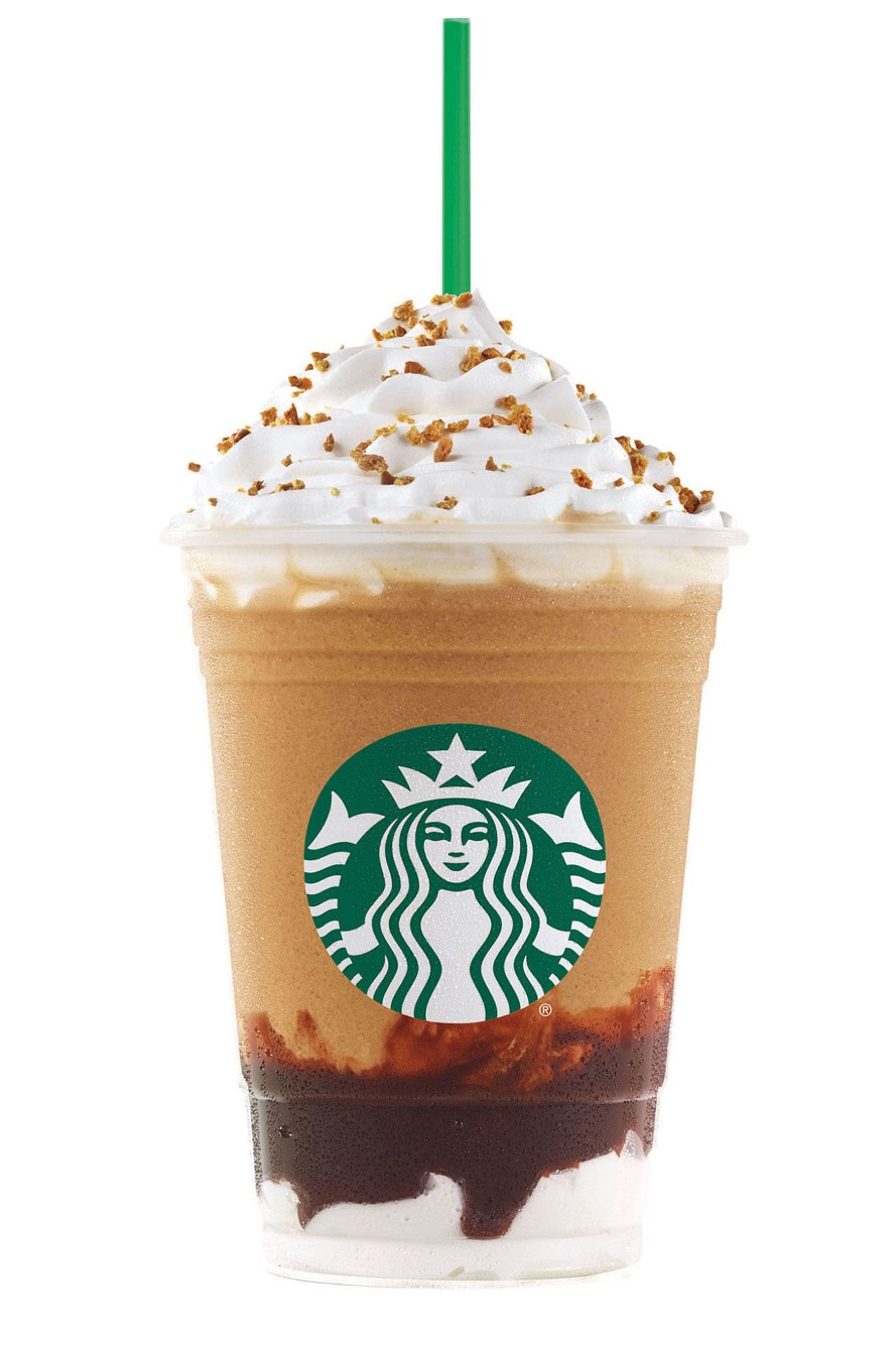 s'mores frappuccino: •Java Chip Frappuccino (or double chocolate chip if preferred) •1 pump of Cinnamon Dolce syrup •1 pump of Toffee Nut syrup •Whipped cream blended in •Top with whipped cream and Cinnamon Dolce sprinkles