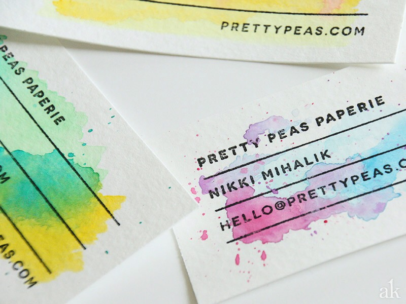 How To Make Easy Water Colour Business Cards!