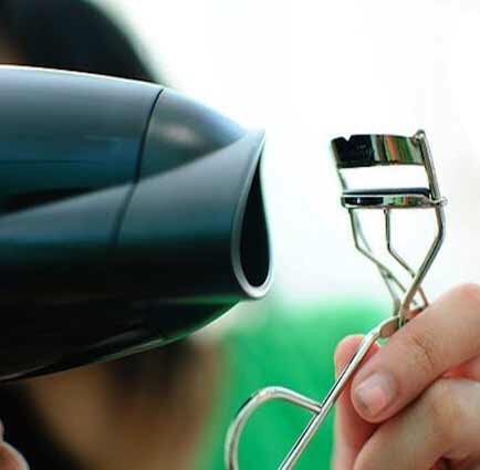 Heat your lash curler: Hold a blow dryer to your eye lash curler for 5-7 seconds; this will help keep your lashes curled nicely for the rest of the day.
