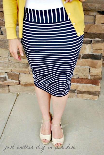 5. Pencil skirt from t-shirt