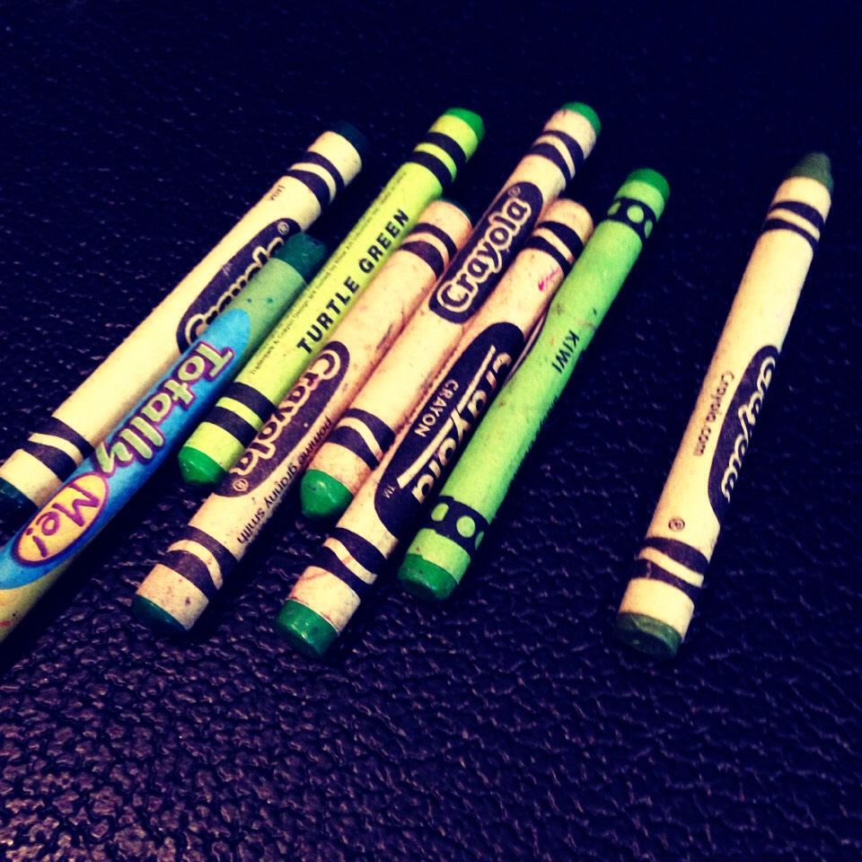Pick out your crayons. We'll be using green for St. Patrick's Day.