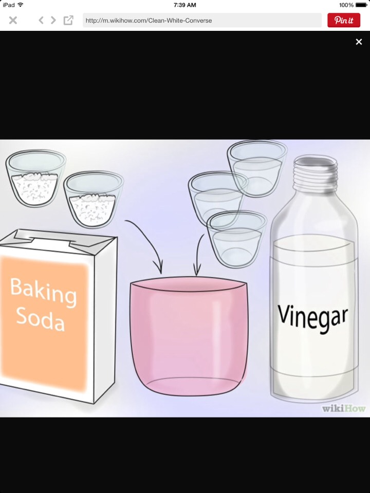 There should be 3 parts vinegar, two parts baking soda. Mix together until it becomes paste like.