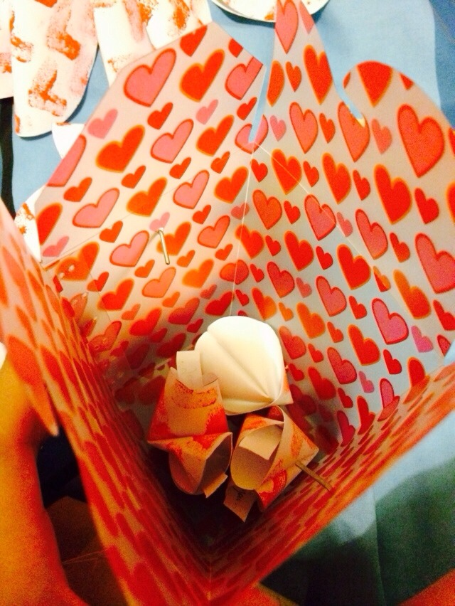 After it dries, put all your paper fortune cookies inside your plastic chinese container. ;)