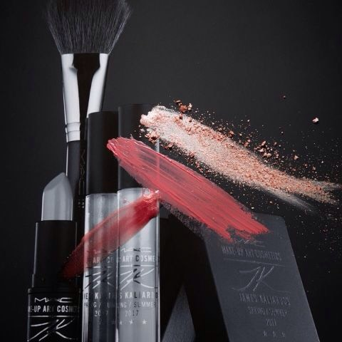 """James Kaliardos'collection reflects his quirky-cool style, and includes asilverlipstick and glosses that we can't wait to get our hands on.   """"I want every woman using my products to feel beautiful and confident by being able to perfect her look in an easy-to-use way."""""""