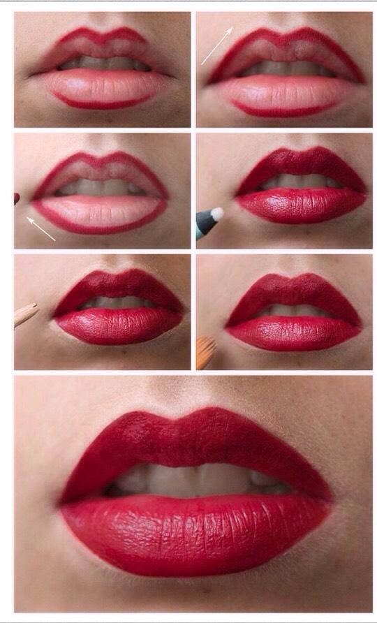 Then go over in lipstick!