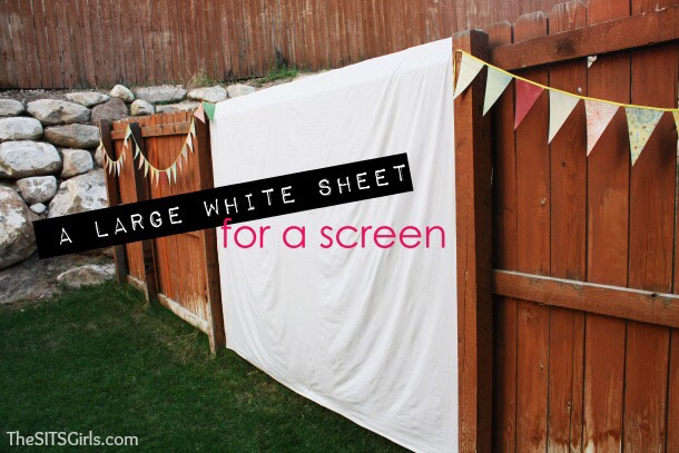 If you don't own a projector screen or don't feel like buying one, usea white sheet as your projector screen