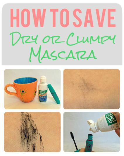 Reviving dry mascara the easy way!