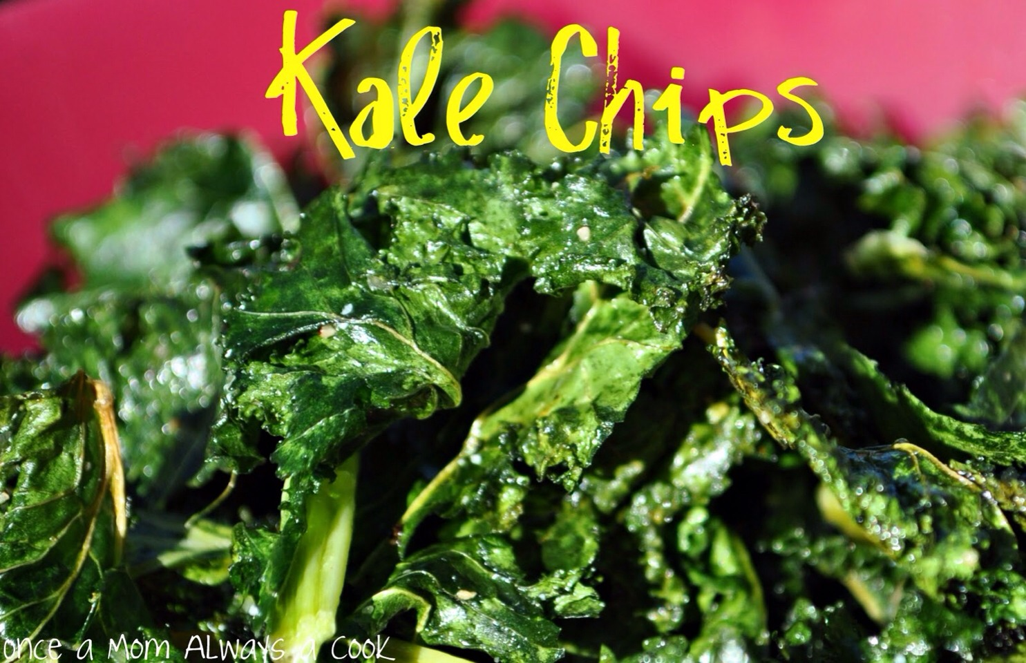 Fry kale up in a little bit of oil. It's crispy just like chips with out all the fat.  You can even sprinkle seasonings on it for a flavored taste!