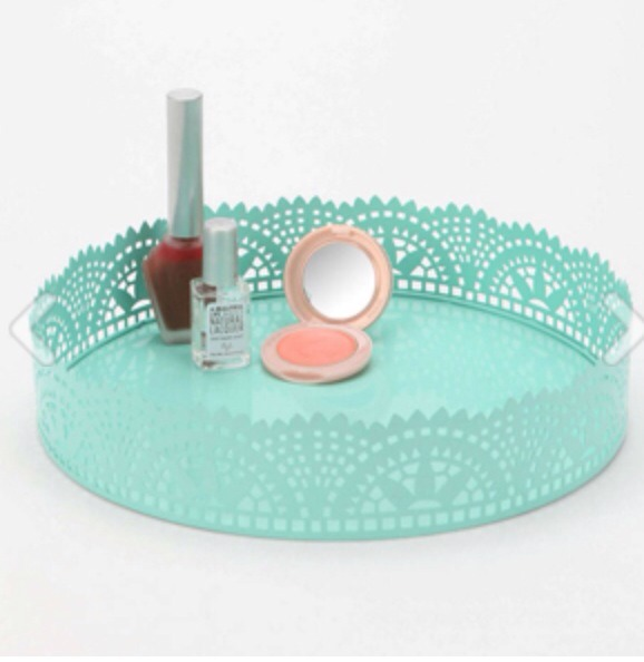 Cut Lace Vanity Tray, $24, urbanoutfitters.com